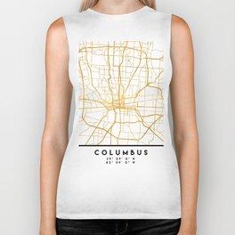 COLUMBUS OHIO CITY STREET MAP ART Biker Tank