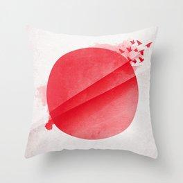 Japan moon Throw Pillow