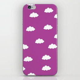 White clouds in purple pink background iPhone Skin
