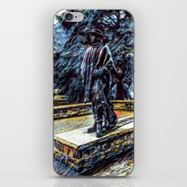 Stevie Ray Vaughan Statue - Austin, Texas - Graphic 1 iPhone Skin