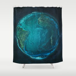 Globe: Relief Atlantic Shower Curtain
