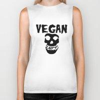 misfits Biker Tanks featuring vegan misfits by sQuoze