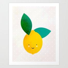 Miss Lemon Art Print