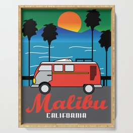 Awesome & Trendy Tshirt Designs MALIBU California Serving Tray
