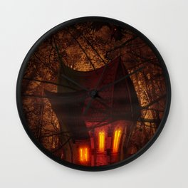 Crooked House Wall Clock