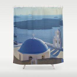 Santorini Island, Greece Shower Curtain