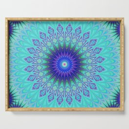 Frozen mandala Serving Tray