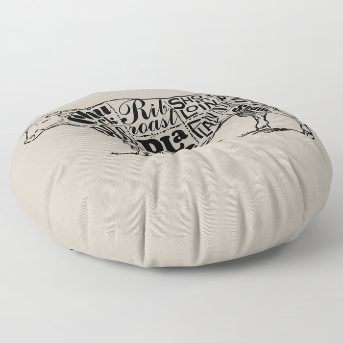 Cow Cuts Floor Pillow