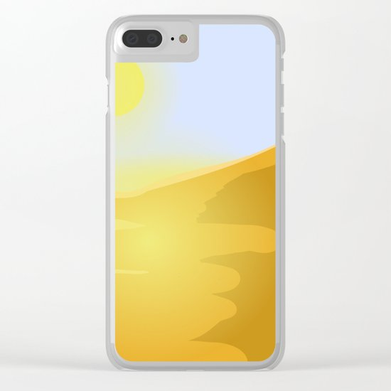 Sand and heat Clear iPhone Case