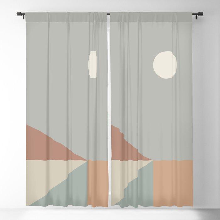 Geometric Landscape 02 Blackout Curtain
