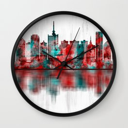 Lagos Nigeria Skyline Wall Clock