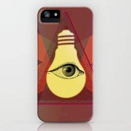 """Illuminati"" bulb iPhone Case"