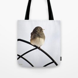 Pretty Winter Junco Tote Bag