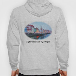 The Quay at Nyhavn, Copenhagen, Denmark Hoody
