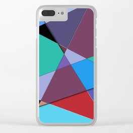 Abstract #513 Clear iPhone Case