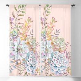 Succulent Watercolor #30 Blackout Curtain
