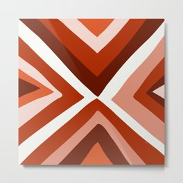 Abstract triangle geometric artwork in Autumn Colors Metal Print