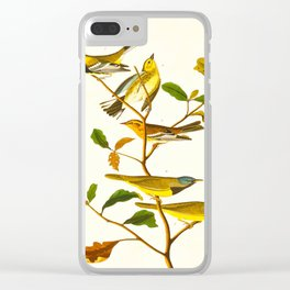 Birds & Plants Clear iPhone Case