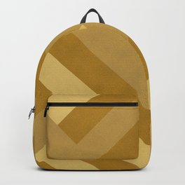 Boho, Faux Suede, Geometrical Art, Mustard Yellow Backpack