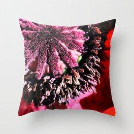 Poppy Close Up Throw Pillow