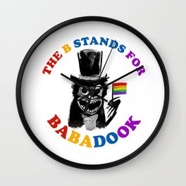 The B Stands For Babadook Wall Clock