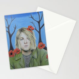 Kurt C Poppy Flower design II colored pencil (more prints/products available) Stationery Cards