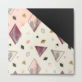 Rhombus&Palms #society6 #decor #buyart Metal Print