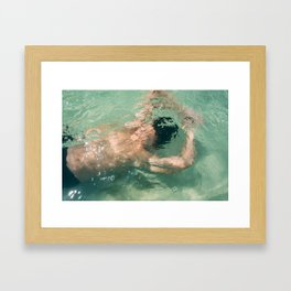 Underwater Abstract Framed Art Print