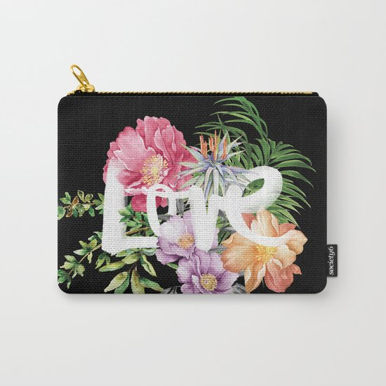Love is Black Carry-All Pouch