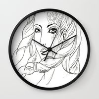 shiva Wall Clocks featuring Shiva by Laura Bou