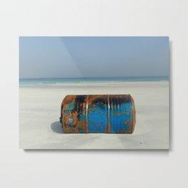 Water & Barrels I Metal Print