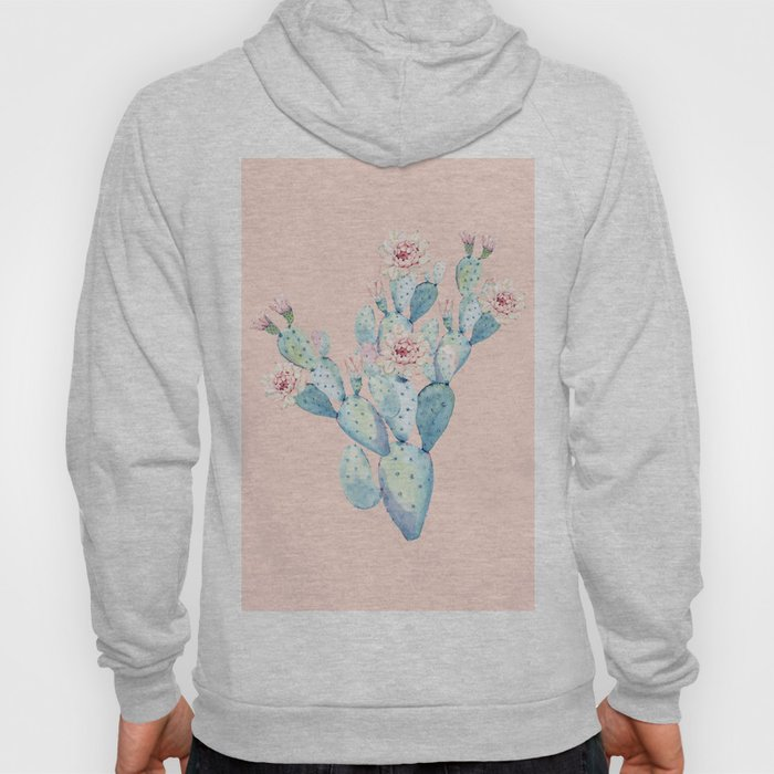 Rose Desert Cactus on Pink by Nature Magick Hoody