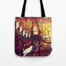 Pre 60's Collage art # 3 Tote Bag
