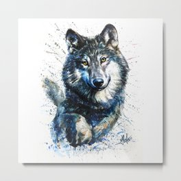 Gray Wolf - Forest King Metal Print