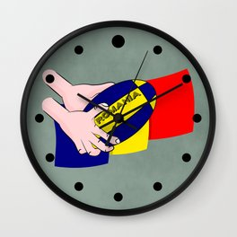 Rugby Romania Flag Wall Clock