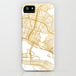 OAKLAND CALIFORNIA CITY STREET MAP ART iPhone Case
