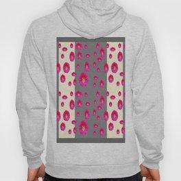 PINK-CERISE ASSORTED FLOATING HOLLYHOCK FLOWERS Hoody