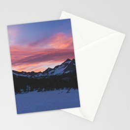 Kearsage Pass Sunrise - Pacific Crest Trail, California Stationery Cards
