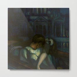 Passion, Venice Canals portrait painting by Federico Beltran Masses Metal Print