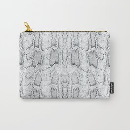 Black White Snake Skin Print Carry-All Pouch