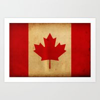 canada Art Prints featuring Canada by NicoWriter