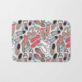 Shoe lover tattoos Bath Mat