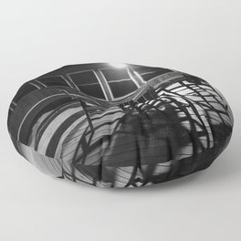 Pier Chairs At Night Floor Pillow