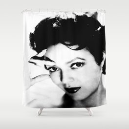 dorothy dandridge black & white photo Shower Curtain