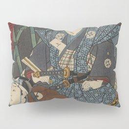 2 Samurais (Japanese soldiers) Ukiyo-e Pillow Sham