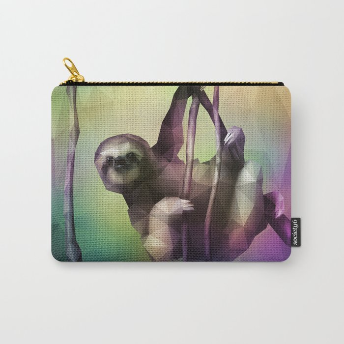 Sloth (Low Poly Multi) Carry-All Pouch