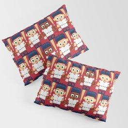 Baseball Red, White and Blue - Super cute sports stars Pillow Sham