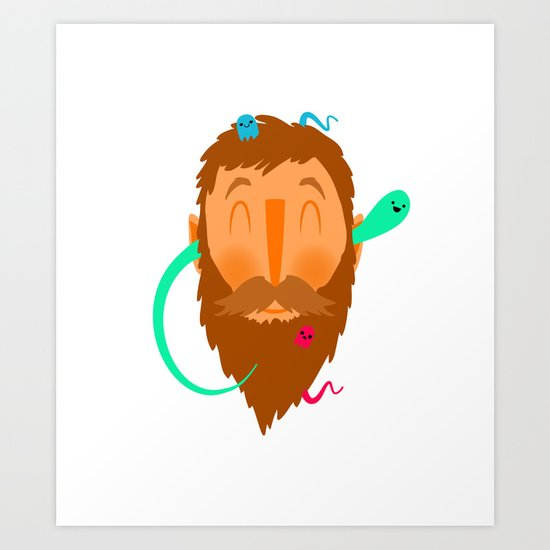 Ghost Beard Art Print