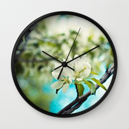 tropical flower. Wall Clock