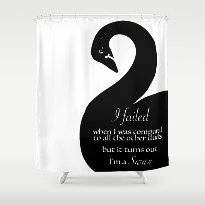 Im A Swan Shower Curtain By Yanamanana